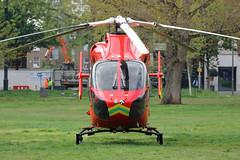 London's Air Ambulance in Shepherds Bush (kertappa) Tags: img7402 air ambulance londons london hems doctor paramedics hospital gehms emergency helicopter kertappa shepherds bush green