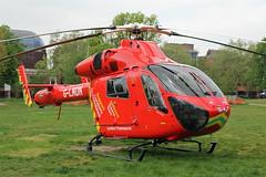 London's Air Ambulance in Shepherds Bush (kertappa) Tags: img7313 air ambulance londons london hems doctor paramedics hospital gehms emergency helicopter kertappa shepherds bush green