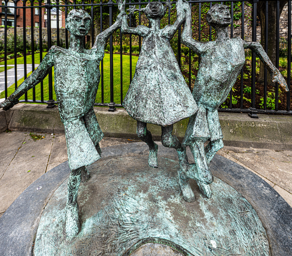 MILLENIUM CHILD  BY JOHN BEHAN ACROSS THE STREET FROM CHRIST CHURCH CATHEDRAL [AT THE PEACE PARK]-152102