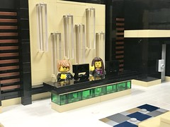 The Vybe Hotel - Lobby (wooootles) Tags: lego moc legomoc building legobuilding architecture hotel legohotel skyscraper legoskyscraper legomodular legocity interior interiordesign boutique vybe thevybe bar lobby lounge