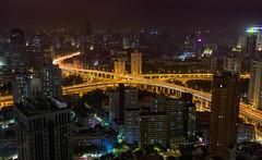 Golden Arteries || Shanghai (David Marriott - Sydney) Tags: jw marriott hotel shanghai overpass night car trail long exposure orange road nightscape cityscape