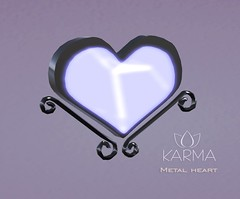 KARMA - Metal Heart (Natalie Vallemont) Tags: backdrop background set sky land sand sandbox mesh decoration lights light night nightlight pack karma heartdecoration metal