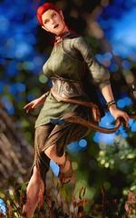 Galaiel - Gleeful Red (DiamondbackVIII) Tags: galaiel red hair yellow eyes elf character shot elder scrolls v skyrim
