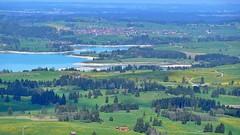 Blick auf den halbleeren Forggensee (Sanseira) Tags: allgäu buching buchenbergalm forggensee lech