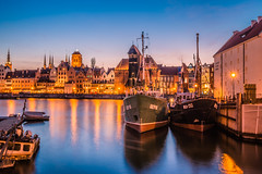 Gdansk at blue hour (Vagelis Pikoulas) Tags: gdansk poland europe travel sea seascape ship ships boat boats canon 6d tokina 2470mm view landscape april spring 2019 architecture