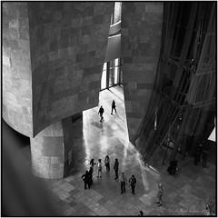 Guggenheim Museum_Rolleiflex 3.5B (ksadjina) Tags: 12min 6x6 bilbao guggenheimmuseum kodak100tmax nikonsupercoolscan9000ed rodinal rolleiflex35b semanasanta silverfast spain analog blackwhite film scan