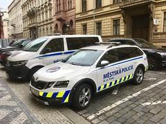 Prague Police Car Skoda Octavia (mangopulp2008) Tags: prague police car skoda octavia czech republic