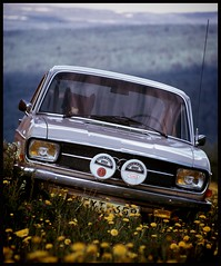 An Audi 60LS from 1969 in the norwegian nature, 1974... (iEagle2) Tags: audi audi60 norway norge