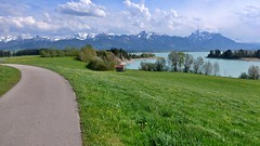Radweg am Forggensee (Sanseira) Tags: radweg forggensee roshaupten buching lech ostallgäu berge alpen