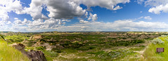 As Far as the Eye Can See (dan@propeakphotography.com) Tags: america badlands blue blueskies bluesky clouds colors famousplace geologicformation grass green horizon internationallandmark landmark landscape nps nationalpark northamerica northdakota paintedcanyonoverlook panorama summer theodorerooseveltnationalpark touristattraction traveldestination travelandtourism trees usa unitedstates yellow belfield unitedstatesofamerica 150faves