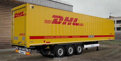 DHL skin for the DLC Krone DryLiner [ETS2] - a photo on