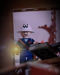 Deputy Chief Warden, Air Raid Precautions (ARP) Wardens' Service (brickhistorian) Tags: ww2 wwii lego legos minifig minifigure custom customs warden air raid london uk britain history brick bricks