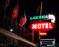 La Hacienda Motel (matthucke) Tags: lahaciendamotel georgetownseattle seattle motel neonsign neon vintagesign