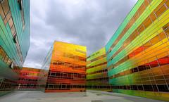 la defense (teun_van_dijk) Tags: architecture ladefense almere fuji velvia teunvandijk netherlands building colors sunlight urbanarte lines 13 unstudio