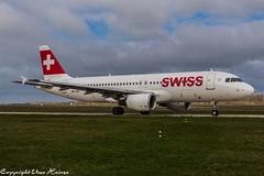 Swiss HB-IJH (U. Heinze) Tags: aircraft airlines airways airplane planespotting plane flugzeug haj hannoverlangenhagenairporthaj nikon d610 nikon28300mm eddv