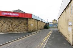 Bradford, England (stu ART photo) Tags: new topographics urban landscape banal city red street
