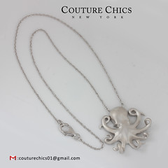 Natural Diamond Pave Octopus Charm Pendant Solid 925 Sterling Silver Necklace Jewelry (couturechics.facebook1) Tags: natural diamond pave octopus charm pendant solid 925 sterling silver necklace jewelry