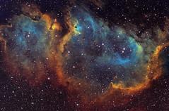 Soul Nebula - IC1848 - Hubble Palette (Astrolights.de) Tags: soulnebula ic1848 ic1871 astrophotography sho narrowband zwoasi183mmpro