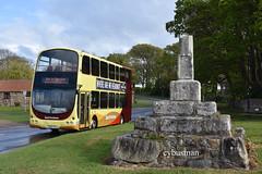 Go Ahead East Yorkshire 734 YX08FYH. (EYBusman) Tags: go ahead north east yorkshire motor services eyms hull bus coach atwick village hornsea new livery wright eclipse gemini volvo b9tl yx08fyh eybusman