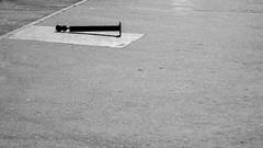 Échec et mat. [Checkmate] (Adrien GOGOIS) Tags: minolta mc tele rokkor 135mm f28 pavement noir et blanc black white bw monochrome dark light plot street city urban vintage old classic legacy manual prime lens telephoto zhongyi mitakon turbo ii square geometry line