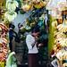 Banana Vendor Sampling Wares, Yangon Myanmar
