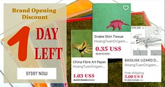 FINAL DAY is going away...!! It is hard for me to discuss with ETSY for another coupon code, so be quick. Enter the code : HOANORI30 and price of all item will be off 30% in total.   (Y) The promotion is for all items in shop, including paper and diagrams (Phạm Hoàng Tuấn) Tags: nghệthuậtgấpgiấyorigami giấynến giấygóiquàrẻ giấygói nghethuatgapgiaynhatban origamipaperforsell giaygoiquare giấygấp giấynếnrẻ origamishop giấymỹthuật giấydó giấymỹthuậtgiárẻ giấygióvẽtranhđônghồ giấygấporigami sảnphẩmhandmade giấygấpthủcông origami origamipaper giaygaporigami giấymỹthuậttốt