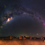 Milky Way at The Pinnacles Desert, Western Australia thumbnail