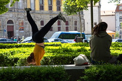 Walking on sunshine (chipje) Tags: street square park girl boy training porto portugal