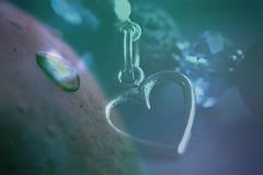 Pain and Love... (Maria Godfrida) Tags: smileonsaturday blueforyou doubleexposure tears love heart pain me may12 blue beads bracelet waterdroplet drop jewellery jewelry closeup macro bokeh blueforyoume2019
