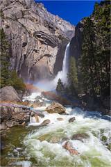 Lower Yosemite Fall (Sandra Lipproß) Tags: rainbow loweryosemitefall waterfall spray yosemitenationalpark yosemitevalley yosemite california usa landscape nature outdoor spring mountains sierranevada westernsierra