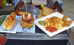 Street food at a food festival (Tony Worrall) Tags: images photos photograff things uk england food foodie grub eat eaten taste tasty cook cooked iatethis foodporn foodpictures picturesoffood dish dishes menu plate plated made ingrediants nice flavour foodophile x yummy make tasted meal nutritional freshtaste foodstuff cuisine nourishment nutriments provisions ration refreshment store sustenance fare foodstuffs meals snacks bites chow cookery diet eatable fodder ilobsterit instagram forsale sell buy cost stock streetfood foodfestival hotdog burger chips