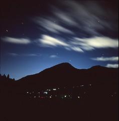(✞bens▲n) Tags: hasselblad 500cm kodak e100vs carl zeiss 80mm f28 film analogue slide 6x6 japan mountains night longexposure stars dark
