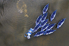 boatinglake (Donnie Canning) Tags: water boats moored outdoor drone