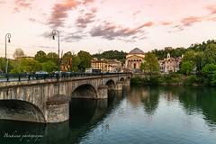 Gran Madre di Dio - Torino (Bouhsina Photography) Tags: torino turin italy italie bouhsina bouhsinaphotography canon eglise pont rivière eau bassin fiumpo sunset coucher soleil