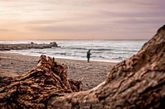 Il Pescatore solitario (ninomele) Tags: pesca fisherman latina italy spiaggia canon 24105mm colors circeo mare sea lazio