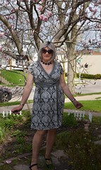 Early Sunday Morning , , , (Laurette Victoria) Tags: gray spring woman laurette dress sunglasses