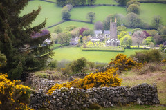 The Church in the Moor (Frosty__Seafire) Tags: widecombe moor church landscape moorland rural countryside landscapes dartmoor devon england south west fields stone wall layers d7000 sigma 70300 trees national park nikon saint pancras