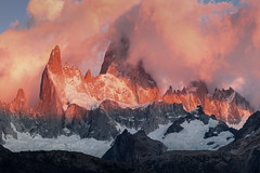 The Dawn Wall (Andrew G Robertson) Tags: fitzroy panorama el chalten patagonia argentina sunrise alpenglow unesco parque nacional los glaciares
