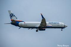 [CDG] SunExpress Boeing 737-800 _ TC-SOC (thibou1) Tags: thierrybourgain cdg lfpg orly spotting aircraft airplane nikon d810 sunexpress boeing b737800 b738 tcsoc sigma tamron landing