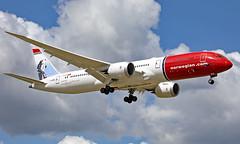 G-CKWN - Boeing 787-9 Dreamliner - LGW (Seán Noel O'Connell) Tags: norwegian gckwn boeing 7879 dreamliner b787 b789 787 oscarwilde gatwickairport lgw egkk 08r jfk kjfk di7016 nrs16b aviation avgeek aviationphotography planespotting