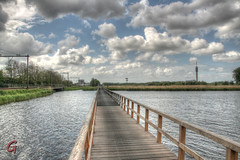 Fietsbrug over de Liede (++Gerard++) Tags: haarlemmerliede noordholland nederland fietsbrug fiets