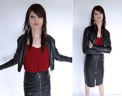LeatherGurl (Laura Wayland) Tags: laura wayland leather cuir skirt sexy fetish fashion french france crossdress crossdresser tgirl traps femboy shemale trans tranny