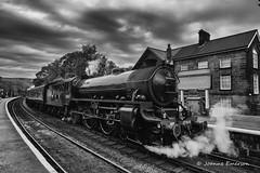 DSC_6158-Edita (remenos23) Tags: nikon mono monochrome tokina railway train locomotive steam grosmont nymr