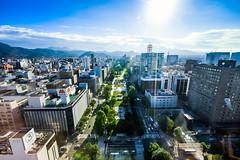 90m over Sapporo (Jeremy Royall) Tags: a7iii sun sony tvtower 90m sapporo cityscape viewing japan deck hokkaido hokkaidō