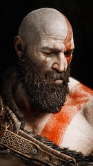 Kratos: Allow me to sleep & rest for a second.. (pixeldotgame) Tags: portrait portraiture santamonicastudio gamephotography playstation4 playstation artwork gow godofwar4 godofwar kratos photography photomode