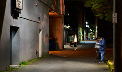 Late Night, Lonely Alley (coljacksg) Tags: latenight lonely alley sony a7r tamron af 2875mm f28 sp xr di ld salem oregon homeless dining
