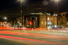 Light Trails Durham (SilvercellHawk) Tags: durham lights trails road roundabout traffic cars city tarmac outside