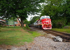 Small Town First Responders (ajketh) Tags: csx csxt freight train railroad q693 first responders honor honoring veterans 911 1776 manifest small town sc south carolina mccormick subdivision siding dorn mill history center es44ah