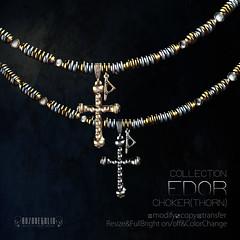 ROZOREGALIA_EDOR*CHOKER(THORN)Si&Go_AD (ROZOREGALIA) Tags: tmd rozoregalia the mens dept secondlife necklace choker unisex silver gold stone beads jewel
