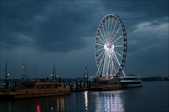The Capital Wheel (raymondclarkeimages) Tags: rci raymondclarkeimages 8one8studios flickr fujifilm mirrorless usa xseries outdoor google apsc xt3 xf35mmf2rwr potomac sky clouds watertaxi water river ferriswheel nationalharbor thecapitalwheel maryland ride potomacriver boats